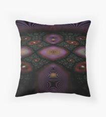 Fractal Fly-over Throw Pillow