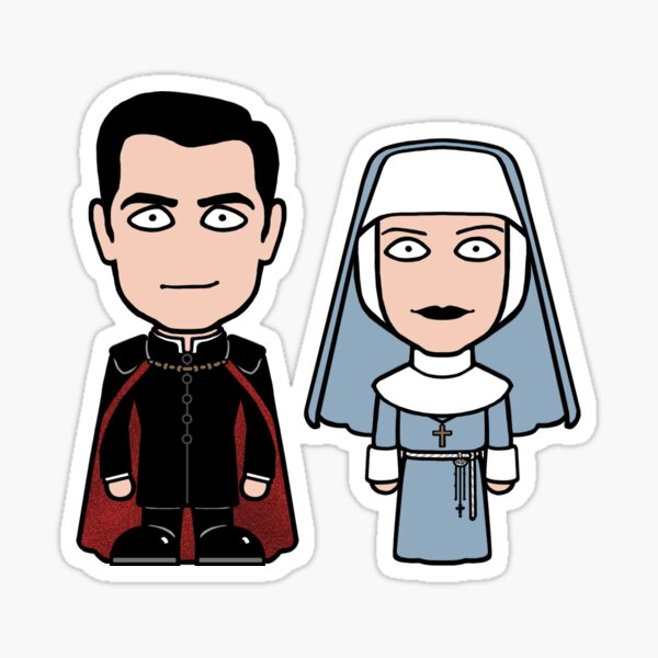 Dracula and Sister Agatha Sticker