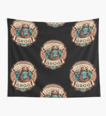 Ghost Pirate Grog Wall Tapestry