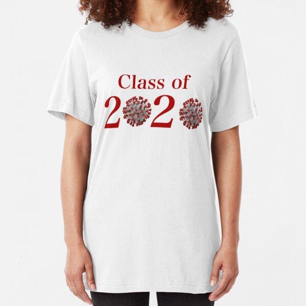 Class of 2020 Coronavirus Graduation Design Original Red Slim Fit T-Shirt