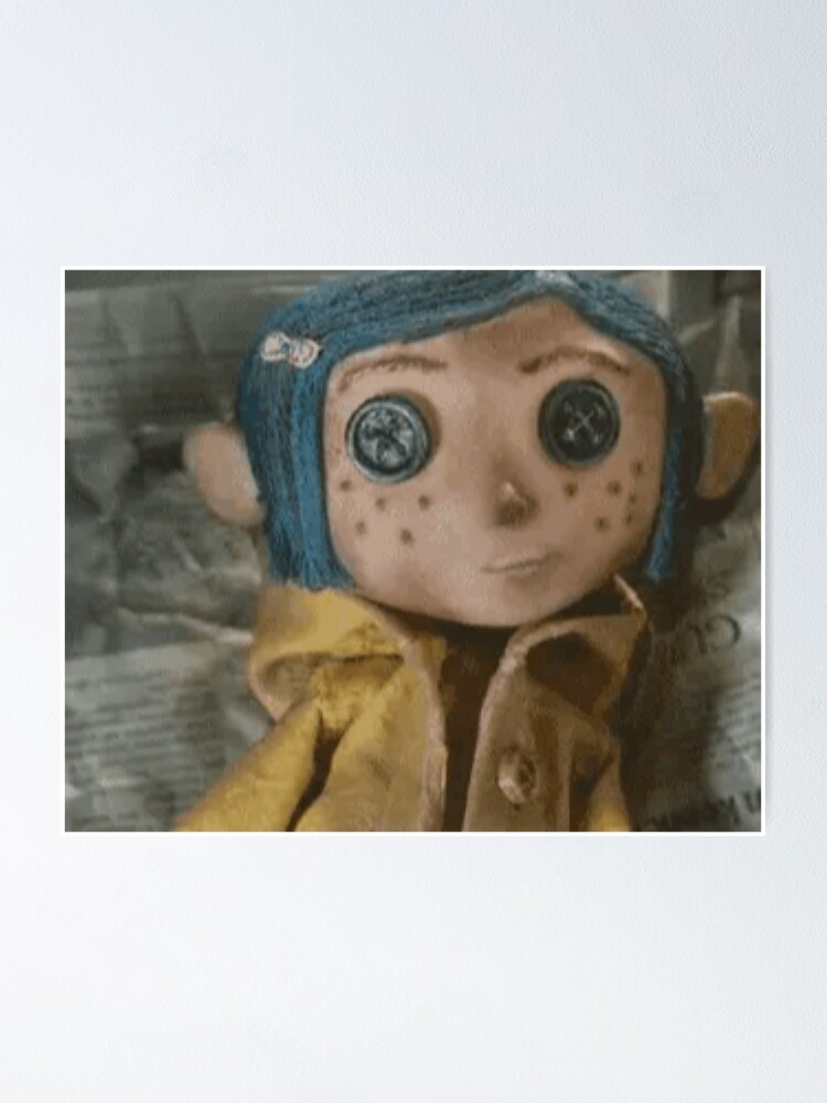 Coraline Doll Poster By Georgialowndes Redbubble