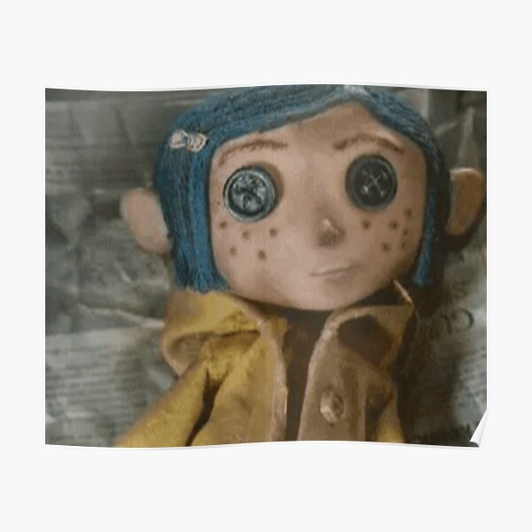 Coraline Doll Posters Redbubble