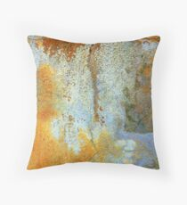 Painted by time in weathered wall Throw Pillow