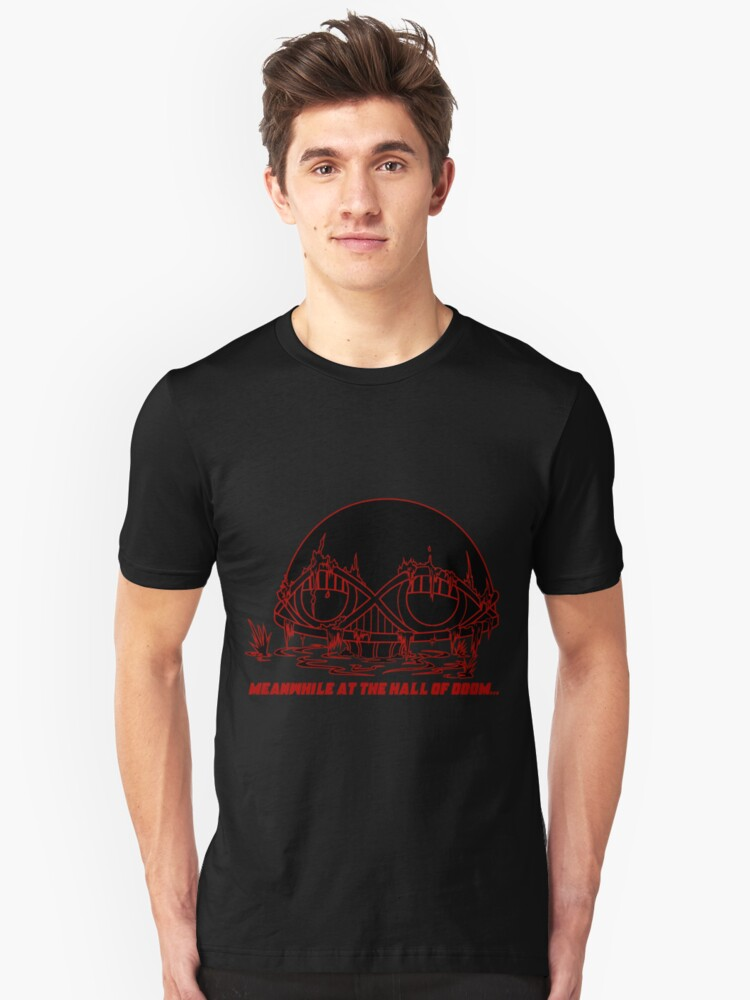 Meanwhile at the Legion of Doom Unisex T-Shirt Front