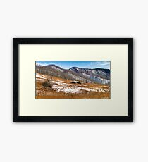 A Hint of Snow Framed Print