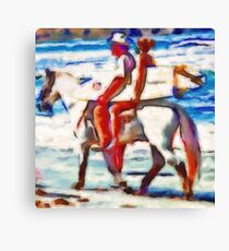 Surfing Texas Style Canvas Print