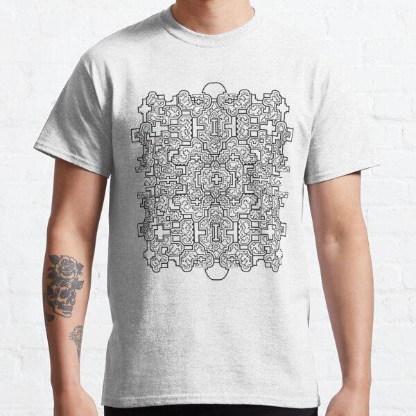 The Shipibo Worldview | White | Shipibo sacred geometry pattern by Ronin Koshi Classic T-Shirt