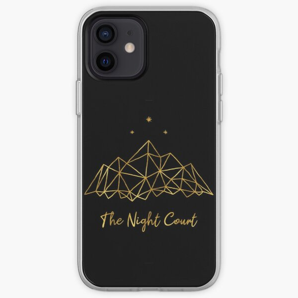 The night court - gold on black iPhone Soft Case