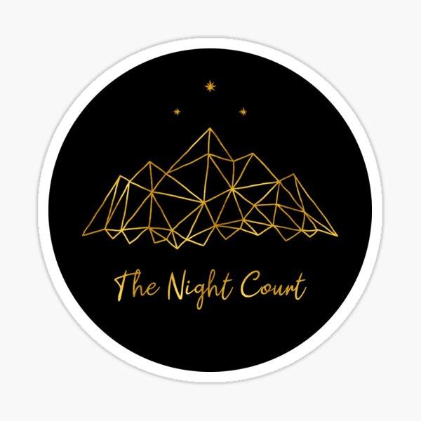 The night court - gold on black Sticker