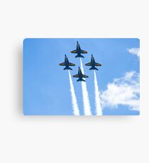 Blue Angels Diamond Belly Shot Canvas Print