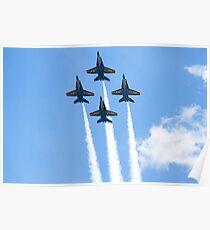 Blue Angels Diamond Belly Shot Poster