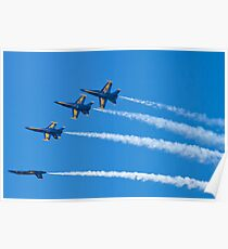 Blue Angels Inverted Tuck Over Roll Poster