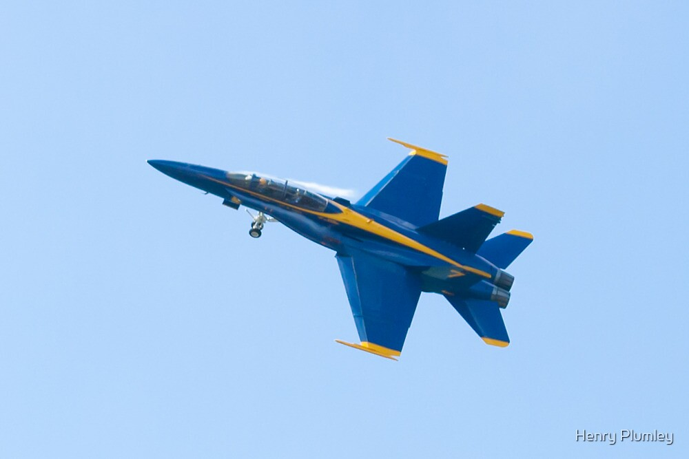 Blue Angels Solo #5 Dirty Roll on Take Off by Henry Plumley