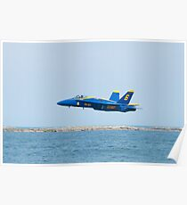 Blue Angels Solo #6 Skimming Lake Erie Poster