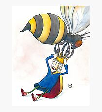 Giant Bumblebee Steals King's Crown Photographic Print