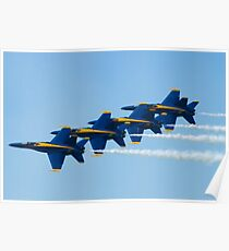 Blue Angels Stacked Poster