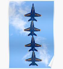 Blue Angels Tucked Under Poster