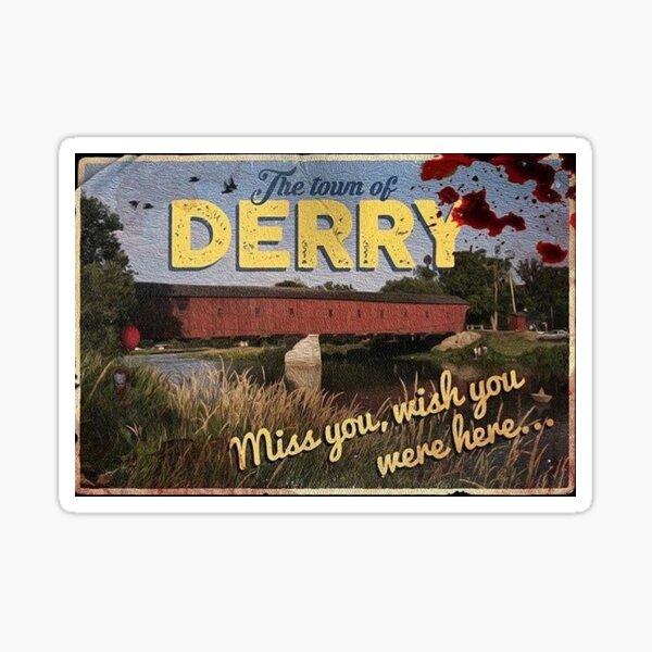 derry postcard Sticker