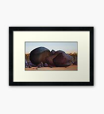 History Wars IV (reworked 2011), Oil on Linen, 84x153cm. Framed Print