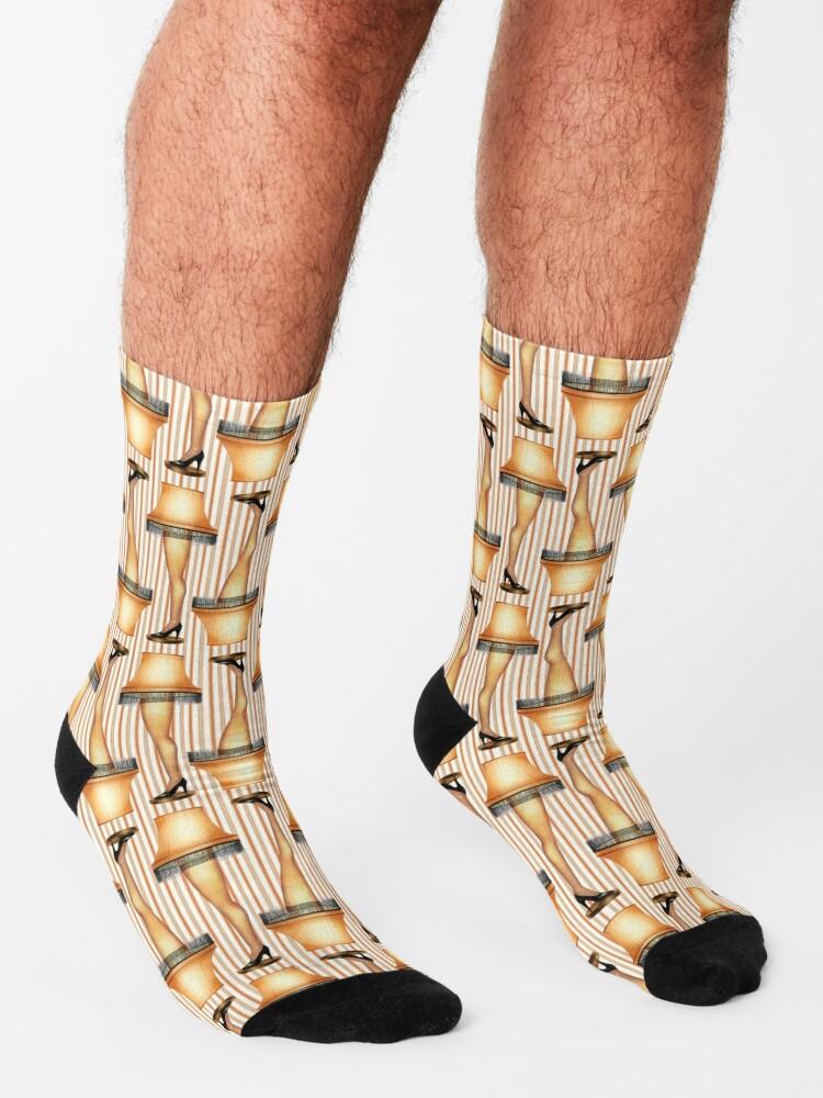 Alternate view of FRAGILE Leg Lamp from A Christmas Story Socks