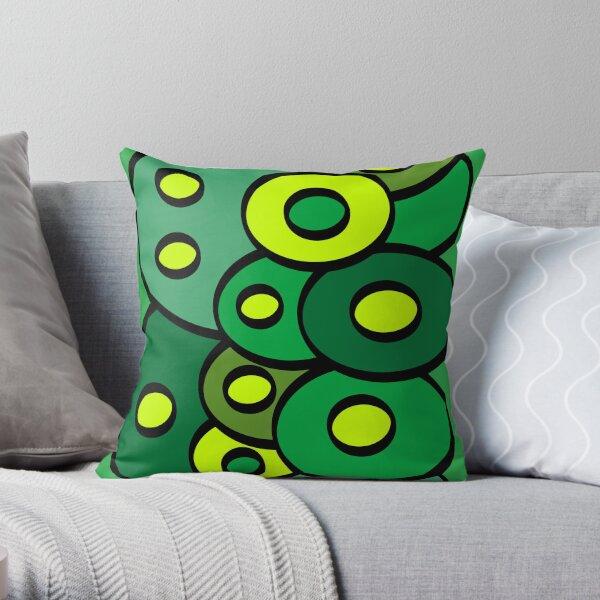 Green Alien Stuff 2 Throw Pillow