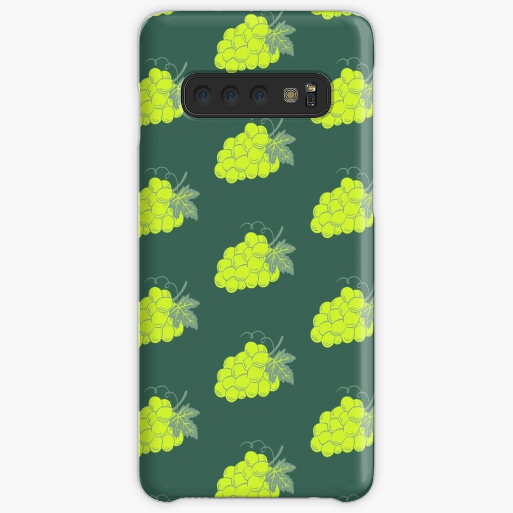 White grape on deep green gray background Case & Skin for Samsung Galaxy