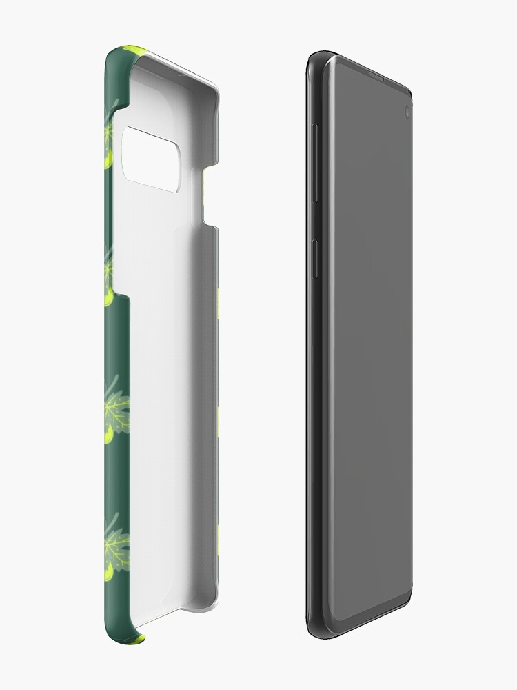 Alternate view of White grape on deep green gray background Case & Skin for Samsung Galaxy