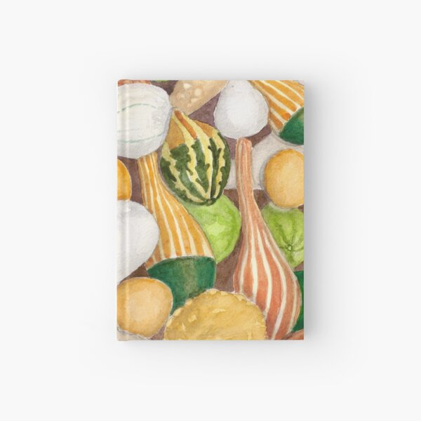 Fall Gourds - Realistic Watercolor  Hardcover Journal