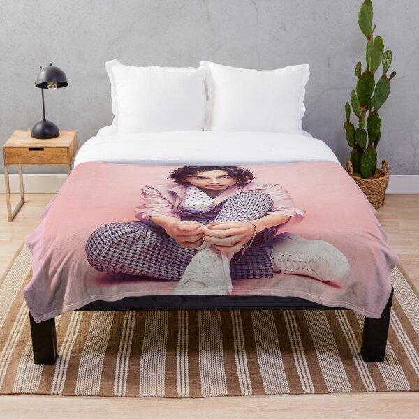 Timothee Chalamet Pink Throw Blanket