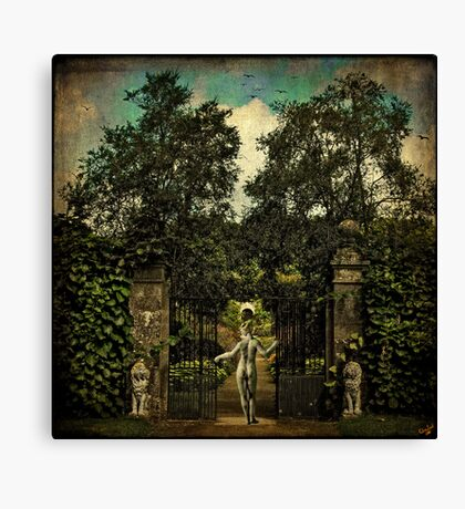 Hope Arrives At The Garden Gate Canvas Print