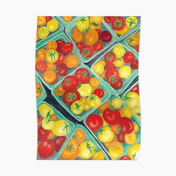 Tomato Time - Realistic Watercolor Poster