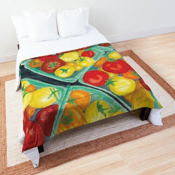 Tomato Time - Realistic Watercolor Comforter