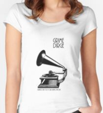 Grindcore for your gramophone Women's Fitted Scoop T-Shirt