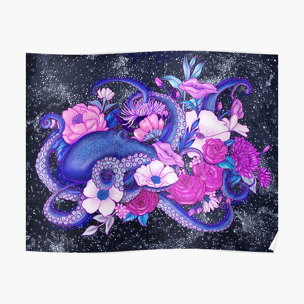 Magic Ocean: The Octopus Coloured Version Poster