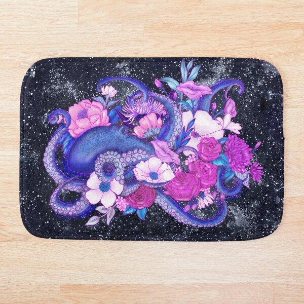 Magic Ocean: The Octopus Coloured Version Bath Mat