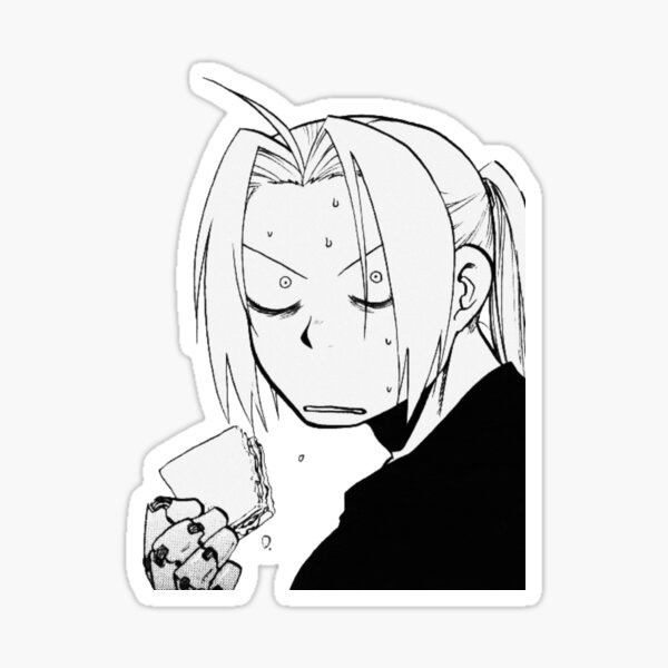 Casquette Edward Elric Fullmetal Alchemist Manga Sticker