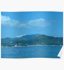 Snake cloud over waves of mountains Poster