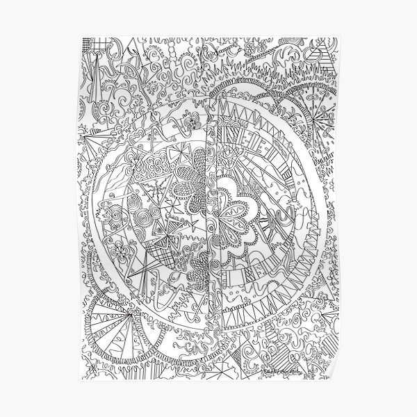 Abstract Coloring Art - Doodle Art Alley Poster
