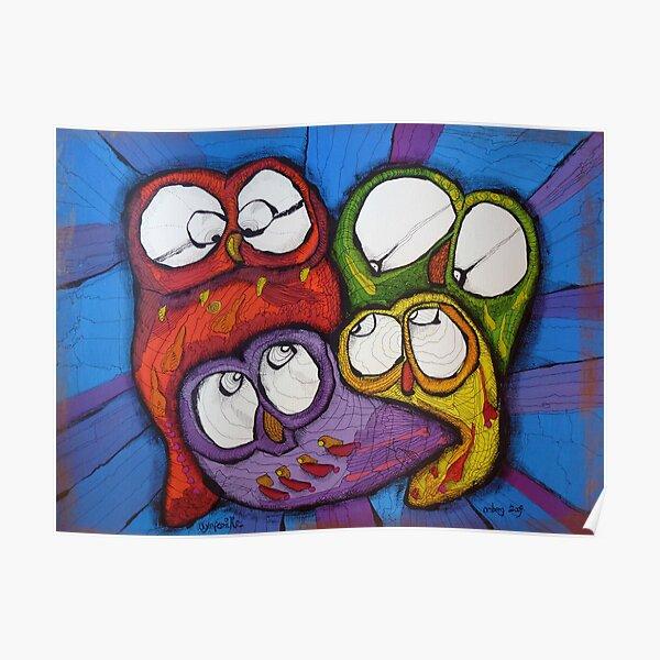Owl Family Poster