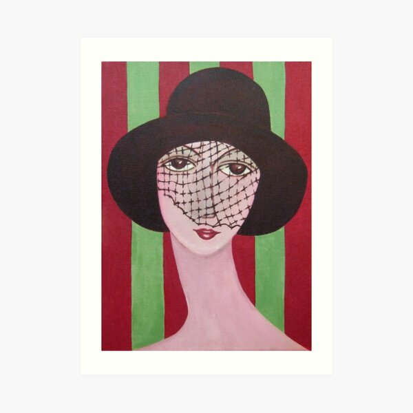 The Brown Hat Art Print