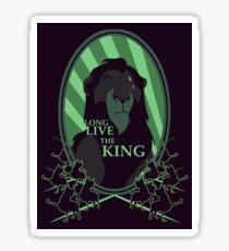 Pegatina Larga vida al rey