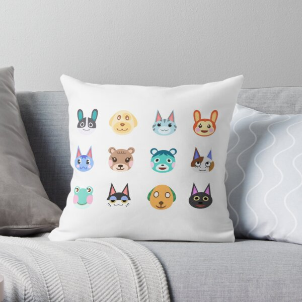 Animal Crossing Cute Villagers Throw Pillow