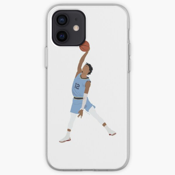 Ja Morant Memphis Grizzlies Minimalist Art // T shirt, phone cases, stickers and more iPhone Soft Case