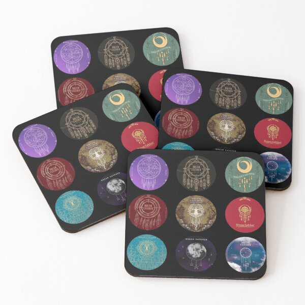 Dream Catcher Album Covers Coasters (Set of 4)