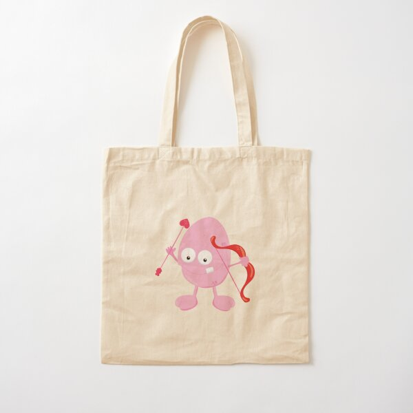 Valentines Day Monster Wants To Play Cupid Cotton Tote Bag