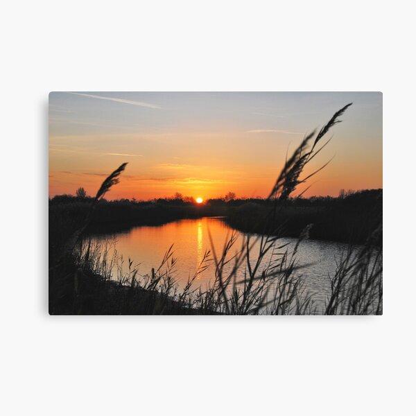 "Sunset in ""my backyard""....... Canvas Print"