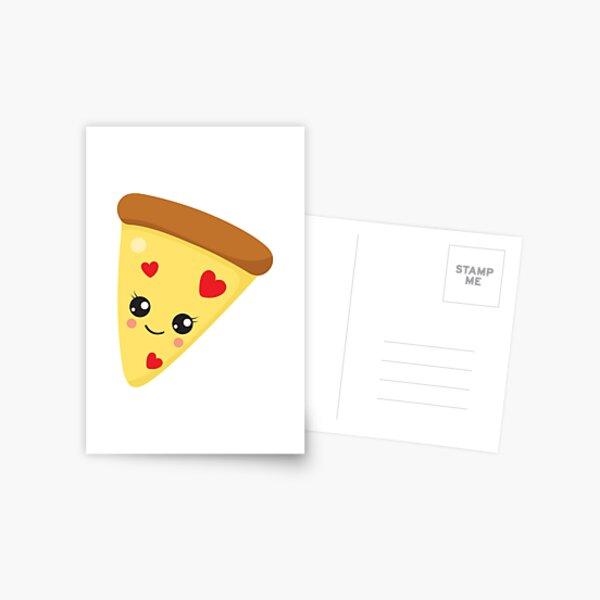 Valentines Day Pizza Affair Postcard