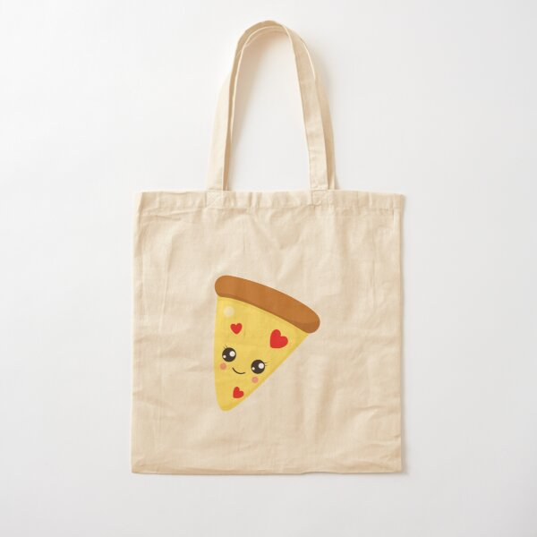 Valentines Day Pizza Affair Cotton Tote Bag