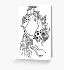 The Empress & The Giant JellyFish Greeting Card