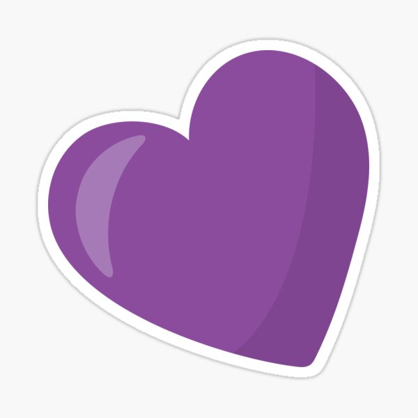Valentines Day Purple Heart Rules The World Sticker